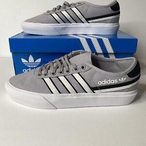 adidas Originals Delpala Size 9 Shoes Men's Casual Classic Sneakers  Grey NIB