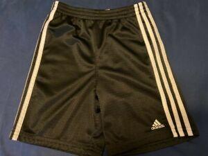 Adidas Kids Athletic Shorts Size 6 Black White Stripes Soccer Boys