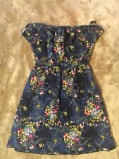 Body Central Sundress Juniors Med Blue Floral