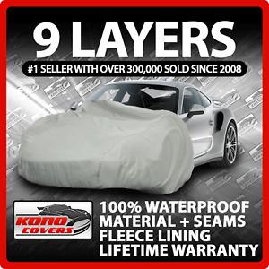 9 Layer Car Cover Indoor Outdoor Waterproof Breathable Layers Fleece Lining 6587