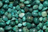 8 oz Peru Chrysocolla Tumbled Gemstone Wholesale Bulk TRCH-8/7O25