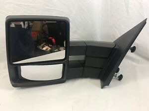 Tow Mirror For 2007 2014 Ford F-150 Left Side Power Signal Puddle Light Heated