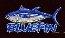 BLUEFIN TUNA HAT VEST PATCH FISH Sport Trophy SOUVENIR PIN UP DEEP SEA FISHING