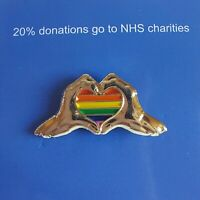 NHS Thank You Pin Badge Fundraiser with Backing Card