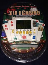 3 IN 1 ELECTRONIC GAME LAS VEGAS CASINO CORNER POKER BLACK JACK SLOTS NEW MGA