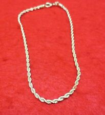 9 1/2 Inch 14Kt Gold Ep 2.5Mm Rope Chain Anklet