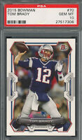 Tom Brady New England Patriots 2015 Topps Bowman Football Card #70 Graded PSA 10