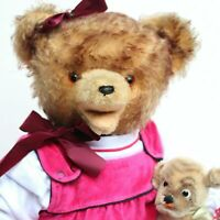 "ALICE "" Alter Teddy Bär Dame im Puppendress m TROUSSEAU Antique Teddy Bear Ours"