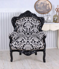 Barocksessel Antik Sessel Vintage Armlehnstuhl Retro Stuhl Thron