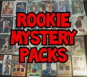 20 CARD NBA ROOKIE MYSTERY PACKS - 2 HITS PER PACK (ONE AUTO) + PRIZM + NUMBERED