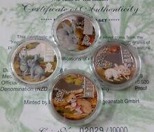 Cook Islands Set 4 x 2 dollars 2011 Lunar Year of the Rabbit  Silver 80 gr  №2