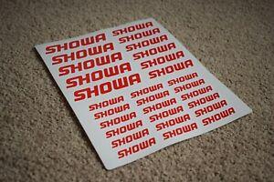 SHOWA Motorbike Moto Racing Speed Turbo Tuning Bike Decals Stickers