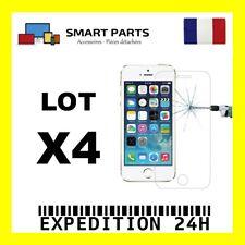 LOT 4 VITRE TREMPE IPHONE 5/5C/5S/SE FILM DE PROTECTION