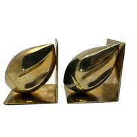Vintage Brass Conch Sea Shell Bookends Maritime Decor