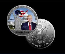 President Donald Trump Silver Commemorative Coin Liberty White House
