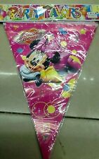 Party :  Minnie Mouse  Flag Banner Banderitas  Party Decor B