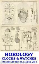 Clocks Horology Clock & Watch History Making Repairing 54 Vintage Books on Disc