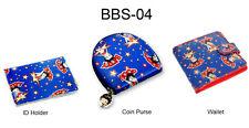 Betty Boop Blue ID Card Holder Coin Purse Wallet Lenticular Set of 3 #BBS-04#