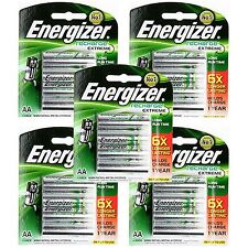 20pcs Energizer Rechargeable AA NiMH 2300 mAh Recharge Extreme Battery NEW