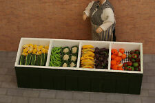 More details for dolls house miniature greengrocer's stall & produce  - pack a