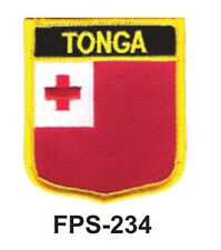 2-1/2'' X 2-3/4 TONGA Flag Embroidered Shield Patch