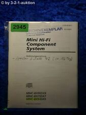 Sony Bedienungsanleitung MHC BX9 /DX9 /BX7 /DX7 /BX5 /DX5 (#2945)