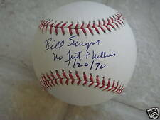 BILL SINGER NO HIT PHILLIES 7/20/70 OFFICIAL SIGNED BAL