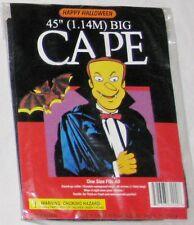 "Black Amglo 45"" Waterproof Vinyl Cape Coat Costume"