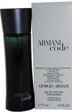 Armani Code (See As Picture) by Giorgio Armani 2.5 oz Edt Spray for Men New