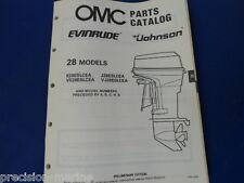 432847 9/88 - 1989, 28 Models Omc Evinrude Johnson Parts Catalog