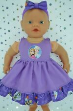 "PlaynWear Doll Clothes 13 ""Little Baby Born/Mommy PATTERN/LILAC DRESS~HEADBAND"