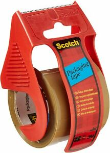 3 x   3M Scotch Brown Parcel Packing Packaging Tape with dispenser 48mm x 20.3m