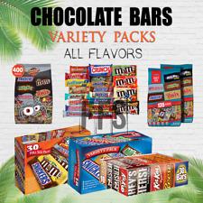 Chocolate Bars Snickers Twix Kitkat M&Ms Reeses Milky Way Hersheys VARIETY PACKS