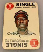 1968 Topps Card Game # 4 Hank Aaron Atlanta Braves Single HOF
