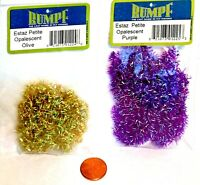 RUMPF Estaz Petite Opalescent Chenille Tying Material - Pick Color (One Package)