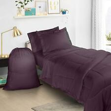 College Dorm Twin XL Bed In a Bag 6 Piece Bedding Set  - Includes Laundry Bag!