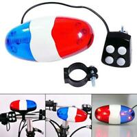 Bicycle Bell 6 Flashing LED 4 Sounds Police  Loud Siren Trumpet Horn Bike L Top
