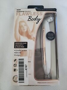 Finishing Touch Flawless Body Rechargeable Ladies Shaver/ Trimmer, White/Rose G6