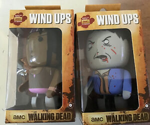 Walking Dead Wind-Up Figurines. Set of two  Sealed In Box.
