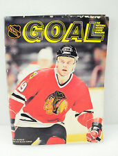 Vintage Goal Hockey Magazine Chicago Blackhawks Roy Murray