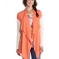 MATILDA JANE Women's SMALL Orange Happy & Free PRETTY PLEASE Cardigan Sweater