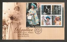 GIBRALTAR 2000 QUEENS MOTHER 100TH BIRTHDAY MINISHEET FDC SG.MS941 LOT 5160A