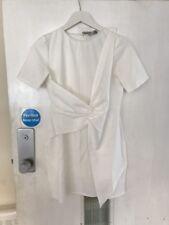 Asos White Petite mini skater dress with twist front Size 10 NEW