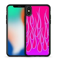 Magnificent Purple Marvellous Fiery Volcanic Flames Pattern Phone Case Cover