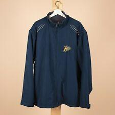 Vintage ADIDAS 14ERS Navy Blue Fleece Lined Sports Jacket Mens XXLarge XXL