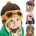 Winter Baby Earflap Toddler Girl Boy Kids Pilot Warm Cap Warm Soft Beanie Hat