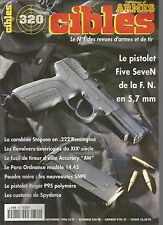 CIBLES N°320 PISTOLET FIVE SEVEN DE LA F.N / CARABINE STOPSON EN 222 REMINGTON