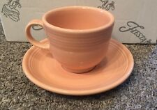 Fiesta Teacup And Saucer In Apricot (retired)