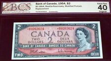 """""""Only 80k Printed * R/R Replacement 1954 $2  BANK OF CANADA"""