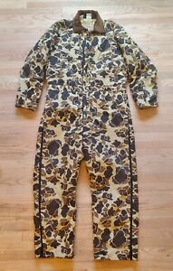 Vintage Walls Blizzard-Pruf Quilted Insulated Duck Camo Coveralls 2XL-Tall USA